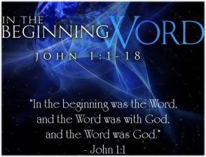 In the beginning Word John1