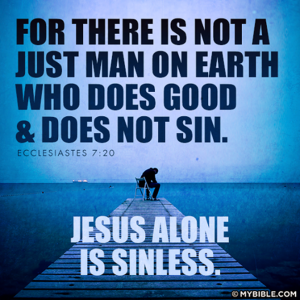 Jesus alone is sinless